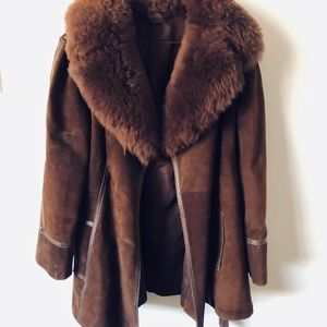 Urban outfitters brown coat